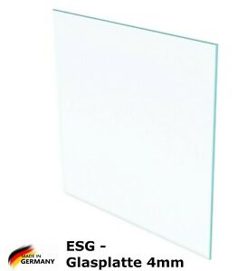 biege- und sto/ßbelastbar. Glasplatten ESG 4mm bis 200 x 300 cm Nach Ma/ß bis 50 x 120 cm 500 x 1200 mm Einscheibensicherheitsglas nach DIN Kanten geschliffen und poliert klar durchsichtig