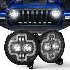 For 18-19 Jeep Wrangler JL New Upgraded High/Low Beam Headlights Daytime Lights