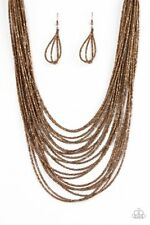 Paparazzi COPPER seed bead Ice Age Radiance necklace set
