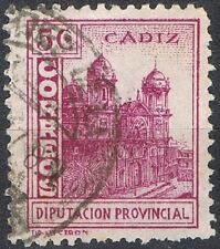 [CF6019] España 1938, Cádiz - Diputación Provincial 5 c. Violeta (U)