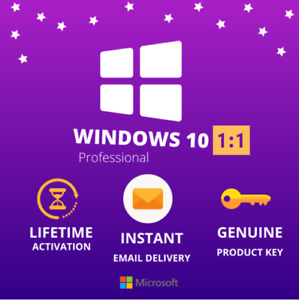 Windows 10 Pro Professional 32/64 Bit✔️Lifetime License Activation✔️Genuine Key