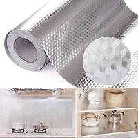 KQ_ Kitchen Oil Proof Aluminum Foil Sticker Wall Floor Self Adhesive Waterproof