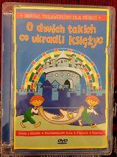 O DWOCH TAKICH CO UKRADLI KSIEZYC DVD Disc Animated Polish Children Story Movie
