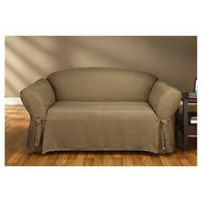Sure Fit Loveseat Slipcover Mason Collection Cocoa Color for Box Cushion Style