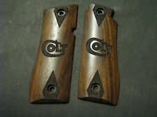 Colt .380 Mustang Plus Ii Only Smooth Fine English Walnut Engraved Logo Grips