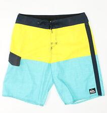 Quiksilver Mens Highline Division Boardshorts Yellow Multi 32 New