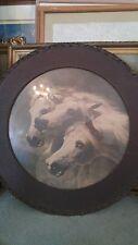 VICTORIAN  PHARAOH'S HORSES  ART PRINT WOOD GLASS FRAME By John Fredric Herring