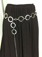 Vintage Route 66 Hippie Boho Gypsy Peasant Festival Brown Ruffle Maxi Skirt