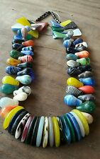 80 Perles anciennes verre de bohème XIX Perle de troc collector necklace