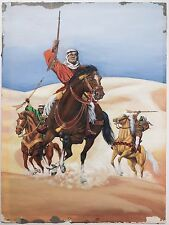 Gray Morrow Original Gouahce Painting, Three Men on Horseback in Desert w/ Guns!