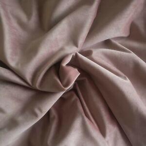 Quality Dusky pink Velvet upholstery/soft furnishings Fabric 145cm x 260cm BNWOT