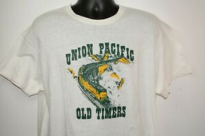 Vintage XXL Single Stitch Union Pacific Railroad Shirt 1980 Sommars Old Timer XL