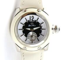 Authentic Glam Rock Womens Palm Beach Watch GR40000 Stainless & White Leather