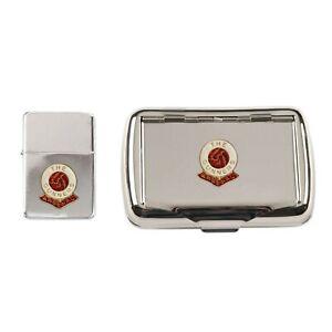 Arsenal football club chrome tobacco tin and stormproof petrol lighter