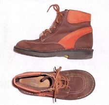 BUGGY montantes cuir nubuck marron & orange  P 37 = 36 TBE