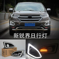 2x LED Daytime Running Fog Lights Lamp DRL For Ford EDGE 2015 2016 2017