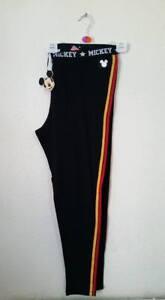 PRIMARK LADIES MICKEY MOUSE BLACK LEGGINGS OUTDOOR/ NIGHTWEAR  UK SIZE XS-XXL