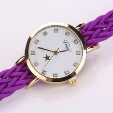 Fashion Braided Wrist Watch For Ladies Dress Star Quartz Watch