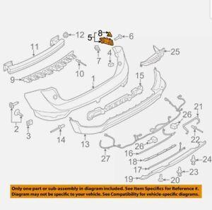 Lincoln FORD OEM 15-18 MKC Rear Bumper-Outer Bracket Left EJ7Z17D943B