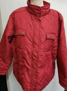 Weekend Dark Red Quilted Coat Size 40 UK Approx UK size 16
