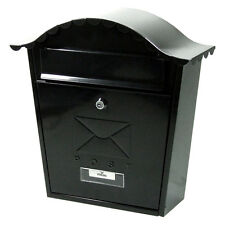CLASSIC STYLE POST BOX in GALVANISED STEEL - BLACK