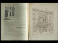 LA CONSTRUCTION MODERNE - n°6- 1892- PARIS THEATRE PORTE ST MARTIN, HENRI SCHMIT