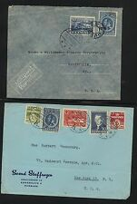 Denmark   2  airmail covers to US        HT-1215