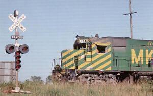 MKT Katy GP40 diesel locomotive train railroad postcard
