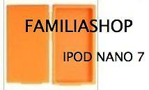 Housse etui coque silicone orange pour iPod Nano 7 7G + Film de protection écran