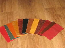 12X PIECES MIXED COLOUR LEATHER SCRAPS/REMNANTS/OFF CUTS/ REPAIRS  & much more