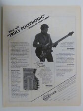 retro magazine advert 1980 ONCOR SOUND synth bass / jimmy lowell