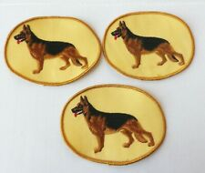 Lot of 3 German Shepherd Dog Embroidered Patches