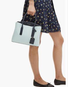 New kate spade new york Margaux Medium Women's Satchel Bag Blue Glow Multi Gift