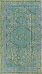 Geometric Oushak Oriental Area Rug Vintage Style Hand-knotted Wool 6x9 Carpet