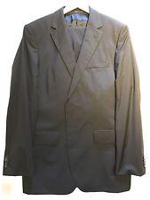 "$2550 Hugo Boss Selection Tailored Line Black Suit 40R Jacket Trouser 34"" Waist"
