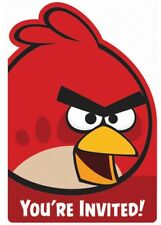 Angry Birds Children's Birthday Party Invitations Plus Envelopes Pack Of 6