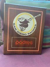 "Vintage San Diego Padres Wood  Plaque 10.5"" x 13"""