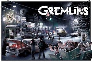 1984 Gremlins Movie Poster Print > Gizmo > Howie Mandel > Mogwai > Stripe 🍿