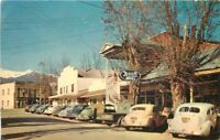 Autos Rexall Drugs Redding Baccilieri 1950s Weaverville California Postcard 2242