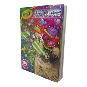 Crayola Cosmic Cats Coloring Book, Sticker Sheet, Gift for Kids, 96 Pgs