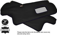 PURPLE STITCHING 2X SUN VISORS LEATHER COVERS FITS TOYOTA COROLLA GT AE82