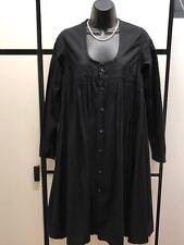 Kapital Japan XS Cotton Black U Scoop Neck Gather Empire Waist Dress