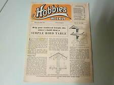 November 1951, HOBBIES, Simple bird table, Lino block Xmas cards, Ink stand.