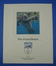 World Wildlife Fund Wwf West African Manatee Togo 70F Stamp Proof Edition