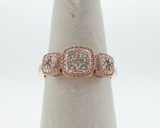 Genuine LeVian 5/8ct tw Diamonds Solid 14k Rose Strawberry Gold Ring