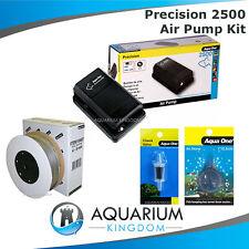 Aquarium Air Pump Kit - Aqua One 2500 Precision -2m Airline Check Valve Airstone