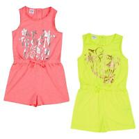 Girls outfit summer NXT playsuit frill pom 3-16 y cotton tie dye pink animal