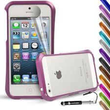 Fundas y carcasas metálicas Para iPhone 5s en color principal rosa para teléfonos móviles y PDAs