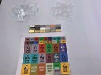 Indium Tantalum 15 x 1 Gram Periodic Element Metal Ingots SILVER x 2 Niobium