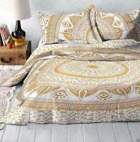 Hippie Boho Mandala Quilt Cover Indian Queen Ombre Duvet Doona Cover Bedding Set